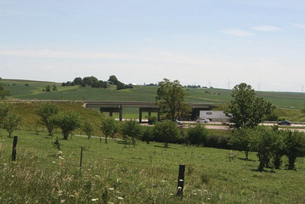 I-80 overpass at Gibbon Avenue in Adair County.